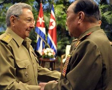 Raul Castro and corean general